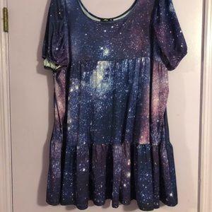 Purple Galaxy Dress - Size 1x
